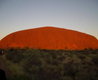 Australien 527-Uluru Safari,dag3-Uluru,soluppgång
